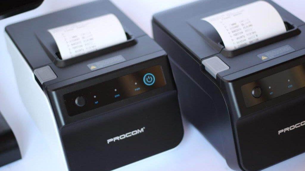 Impresora 80mm, puertos de conexión USB, serial, ethernet